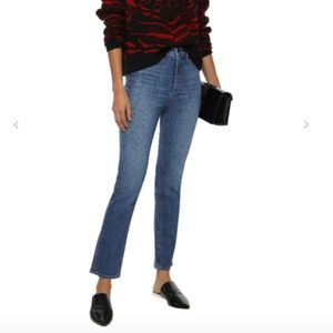rag & bone high rise slim leg classic denim jean